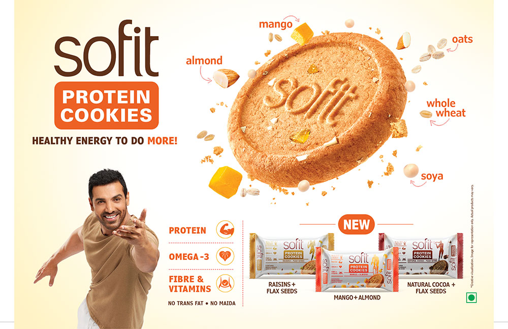 Hershey India forays into premium biscuit segment by launching Sofit protein cookies