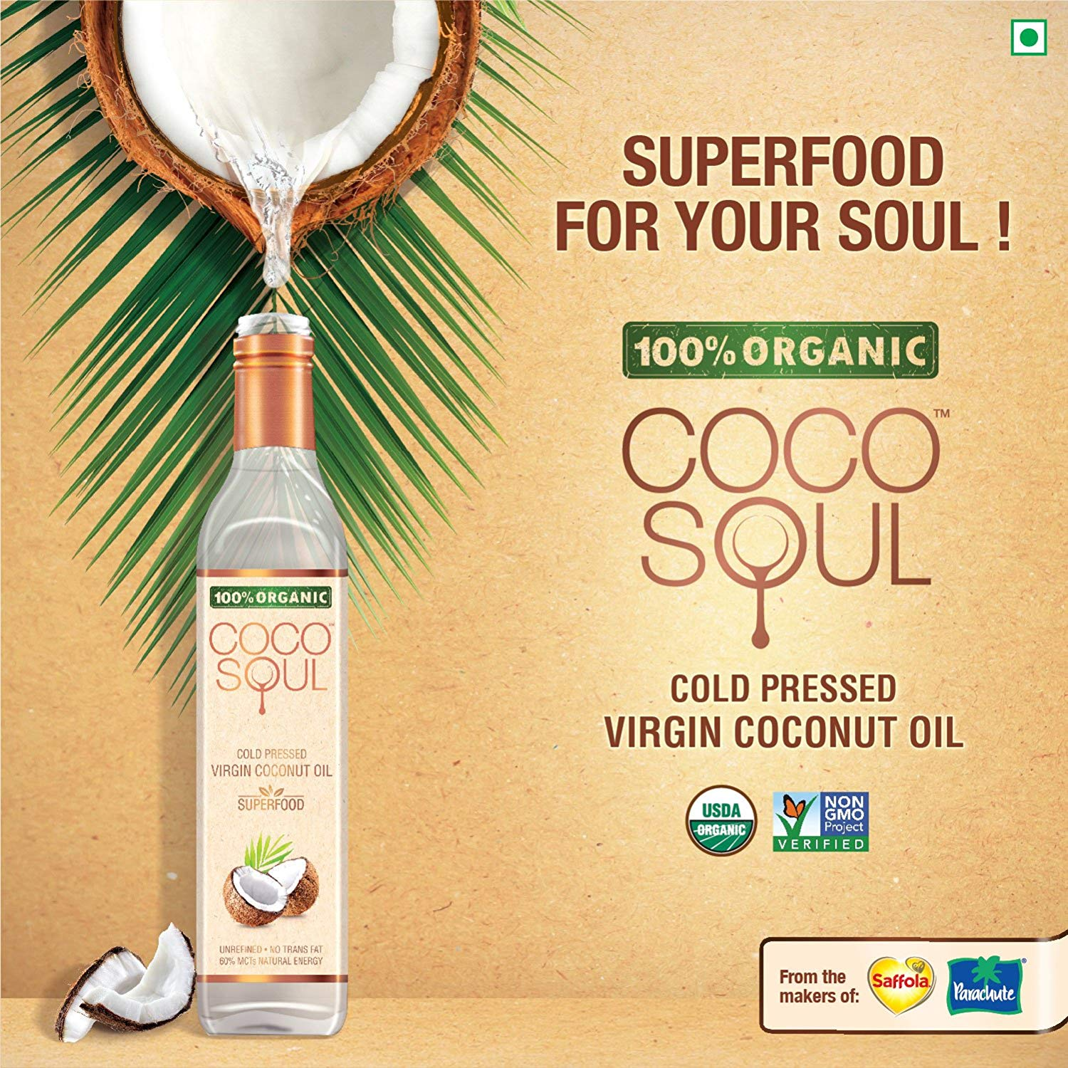 Marico unveiled Coco Soul Cold Pressed Virgin Coconut Oil