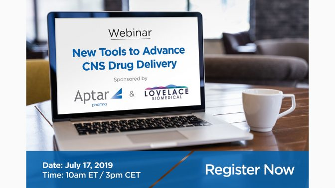 "Aptar Pharma and Lovelace Biomedical to Host Webinar on ""New Tools to Advance CNS Drug Delivery"""