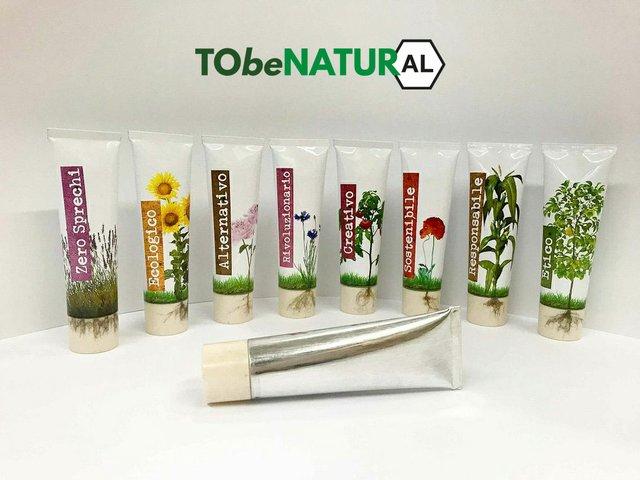 Tubettificio Favia unveils collapsible aluminium tubes called ToBeNaturAl