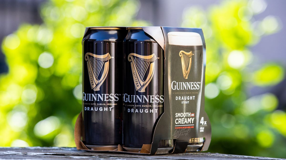 Diageo removes plastic packaging from its beer packs