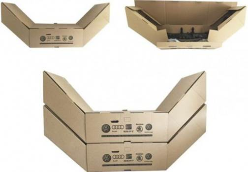 Transport packaging for bumpers