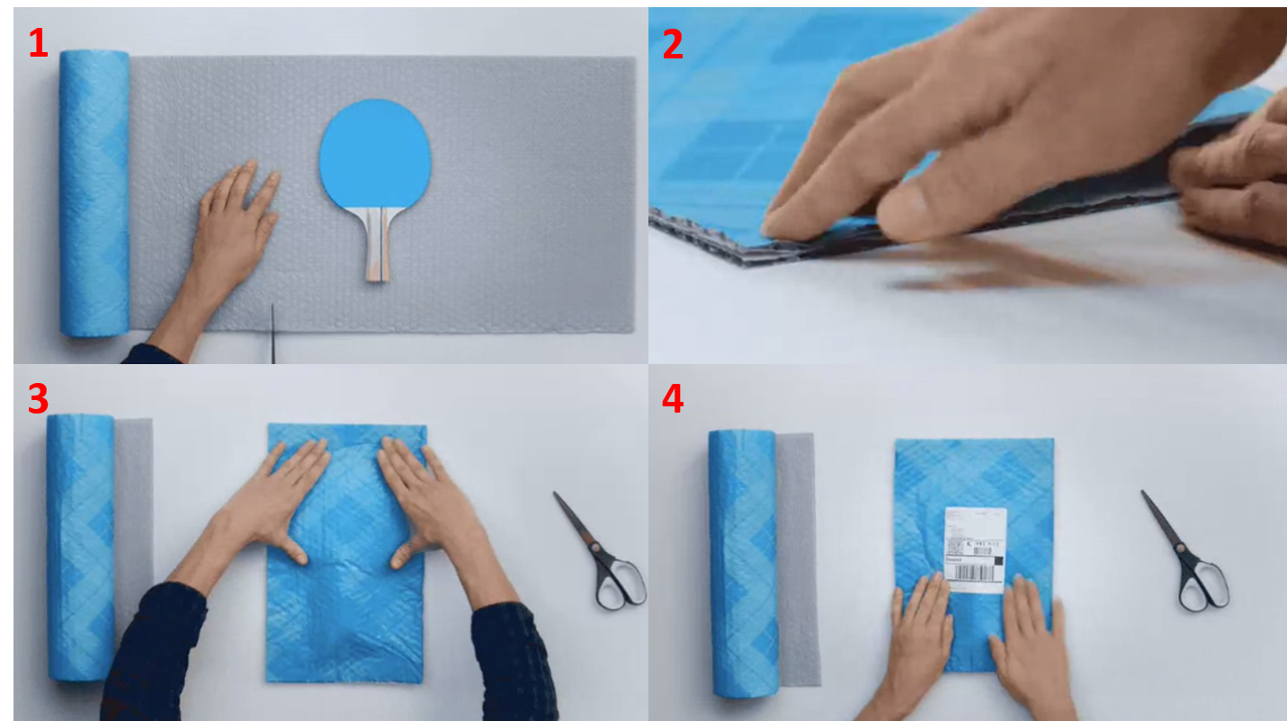3M invents interesting packaging for product shipment