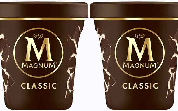 Unilever Magnum Tubs made of recycled plastics