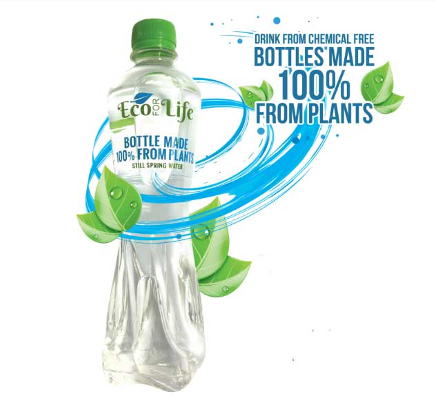 Eco for Life 100% Plant Made Bottles of UK Still Spring Water