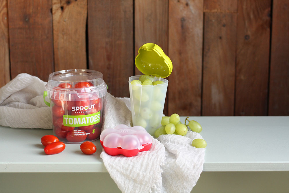 Buckets for snack vegetables & fruit in all shapes and sizes