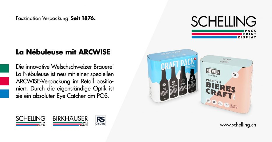 La Nebuleuse and Schelling AG are Introducing an Arcwise Packaging Solution for Beer in Swiss Retail