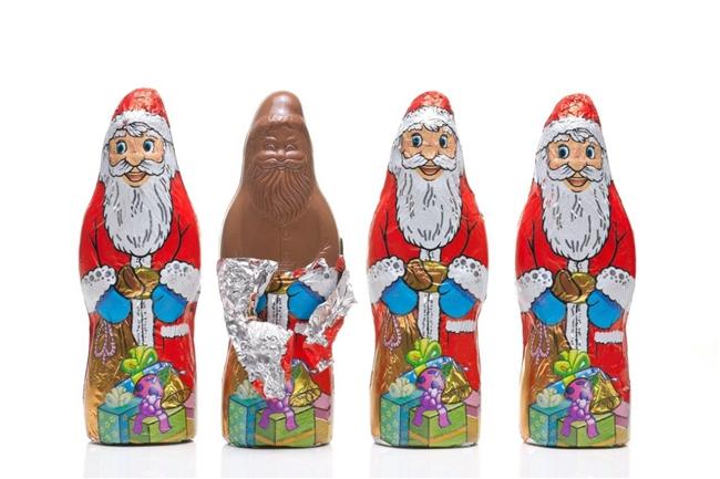 Over 150 Million Chocolate Santa Clauses in Aluminium Foil Coat