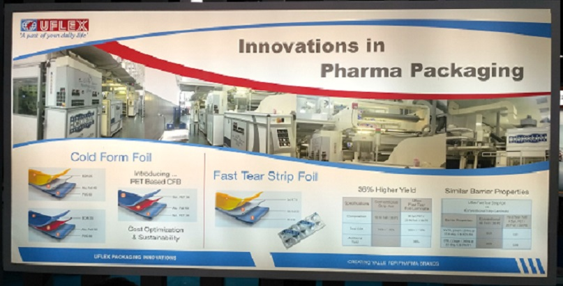 Uflex Unveils New Innovations in Pharma Packaging at CPhI India 2018