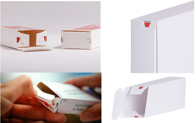 temper evident carton design