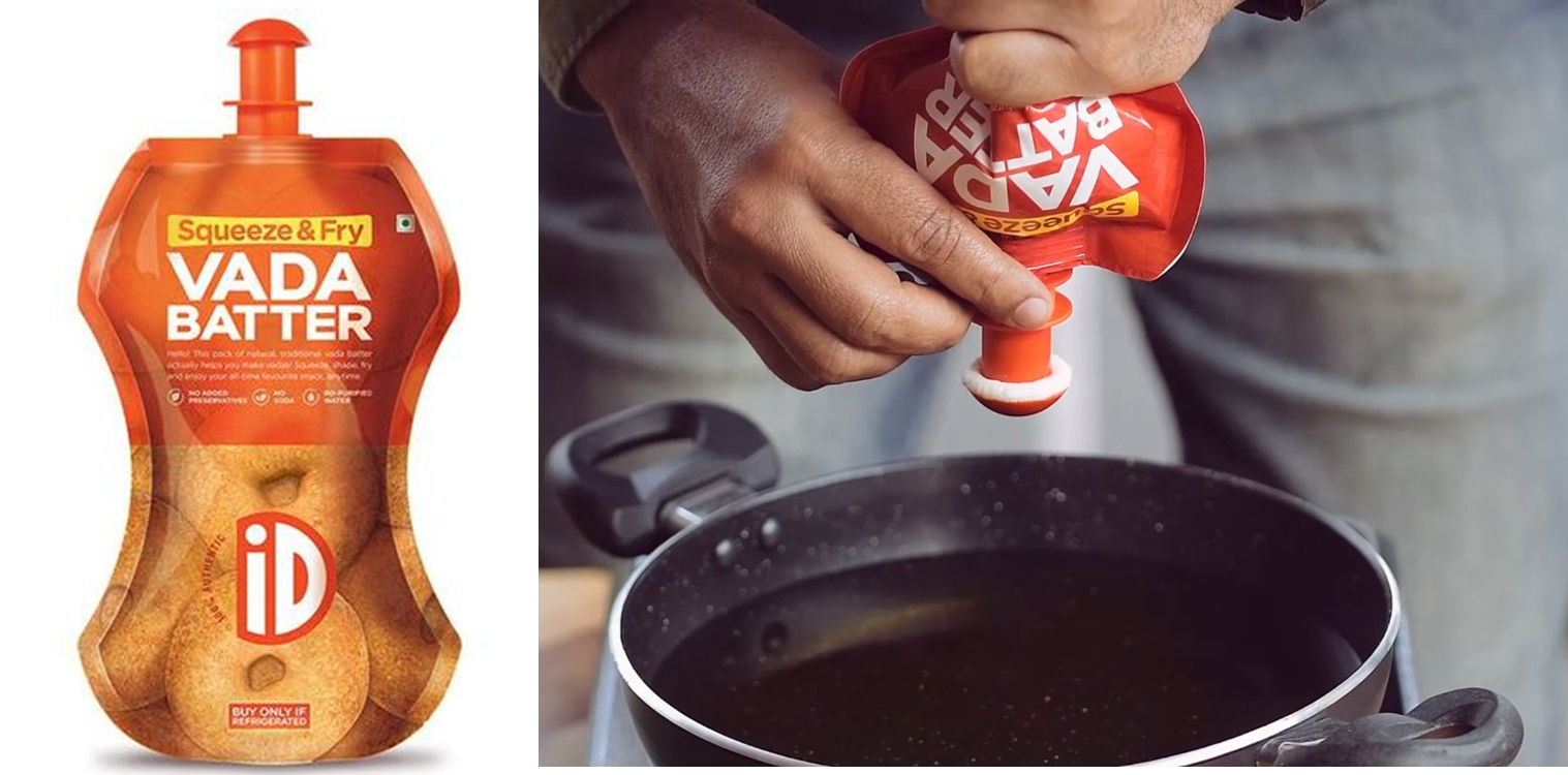 patented spout for vada batter