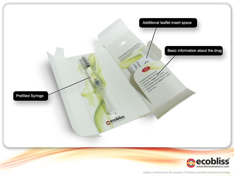 Blister Pack for Prefilled syringe