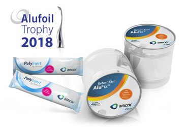 Developments in packaging sustainability and efficiency secure Amcor two 2018 Alufoil Trophies