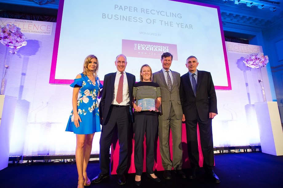 DS Smith Recycling wins Paper Recycling Business of the Year 2018