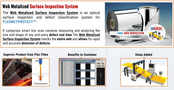 FLEX FILMS LAUNCHES WEB METALIZED SURFACE INSPECTION SYSTEM