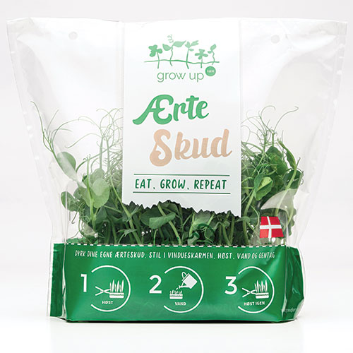 Schur and Grow Up Farm's Launched new vegetable packinging for consumers to own grow vegetables