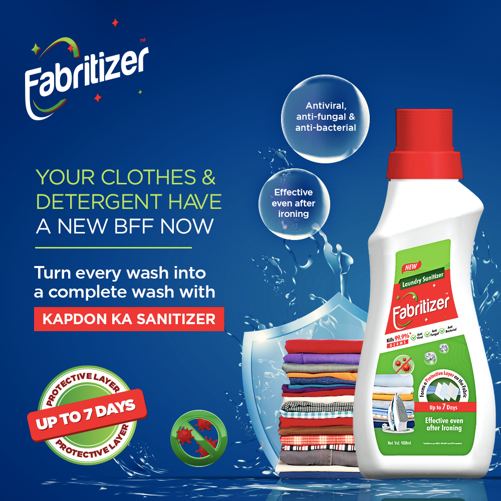 Cosmo Films Ltd. Launches Fabritizer - An After-Wash Laundry Sanitizer For 7 Days  Protection From Germs and Viruses