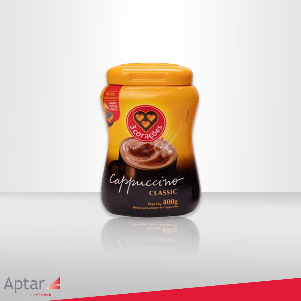 New 3Corações Cappuccino Package Launches Using Aptar's BAP® Technology