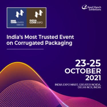 IndiaCorr Expo and India Folding Carton gears up to reunite the corrugated case manufacturing and folding carton industry after the long gap of two years from 23-25 October 2021 at India Expo Centre in Greater Noida.