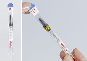 Tamper evident label with first opening indication for Prefilled syringes
