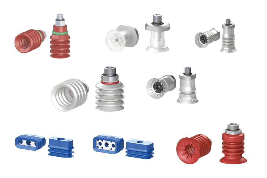 GIMATIC presents its range of suction cups for applications in Food and Food Packaging