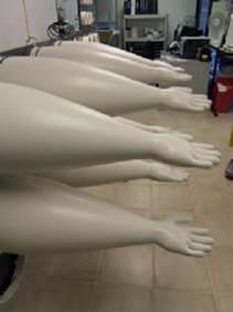 Laser coding for PU gloves
